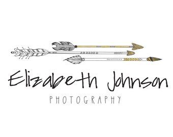 Premade Arrow Logo - Pre made photography logo - Instant Download - Photoshop Template - PSD file - photography watermark