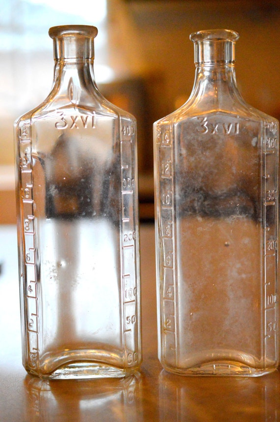 2 Large Antique Owens Medicine Bottles by SongSparrowTreasures