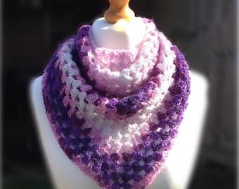 Handmade Moonlight Triangle Shawl - crochet