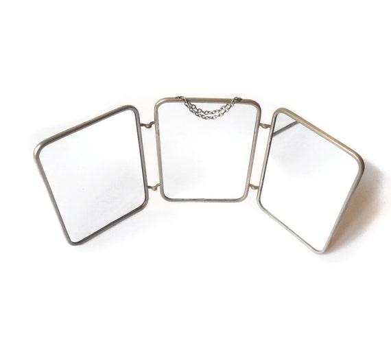 Miroir de barbier miroir 3 volets miroir 3 faces miroir for Miroir 3 volets