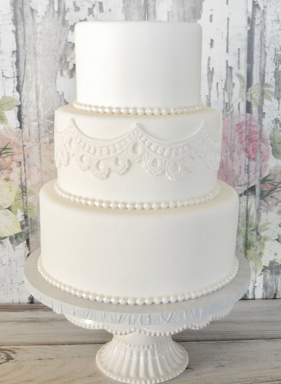 wedding cake fake tiers three tier fondant wedding cake wedding cake faux 22589
