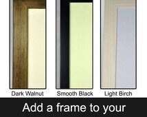 "Add a frame to a 8"" x 6"" print - antique picture, framed art print, small framed art, wooden frame, light birch wood frame art, framed print"