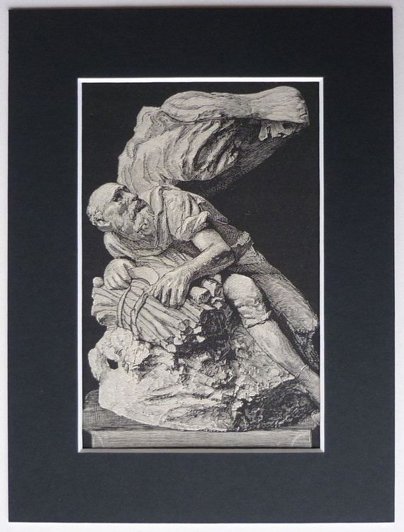 Aesop's fable teaches us that suffering people need human help rather than death, writes C.S. Morrissey. (Picture: Alphonse Legros' 1882 etching of his sculpture of the fable of Death and an Old Man)