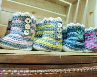 Ruffle booties for babies 0-12months