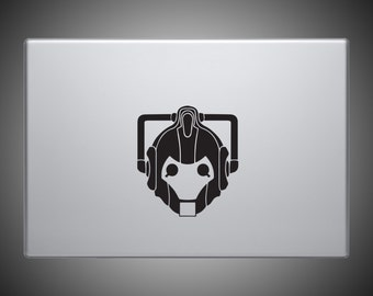 Cyberman Head Sticker - Doctor Who Vinyl Decal