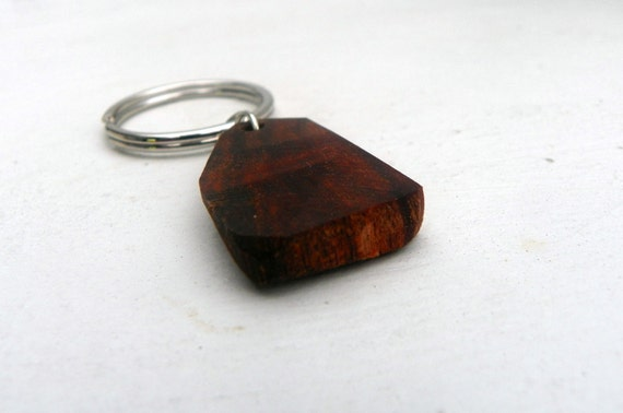 Salvaged Wood Key Chain from Feath and Kee