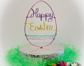 HAPPY EASTER Cake Topper / Spring Holidays Cake Topper / Easter Egg Cake Topper