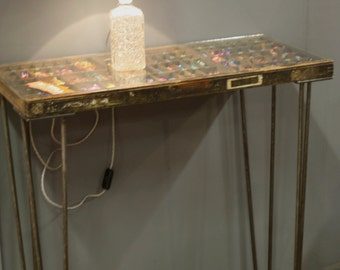 Upcycled Printers Tray Console Table