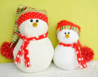 Snug Little Snowmen Sewing Pattern