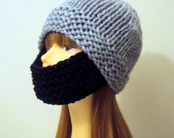 Multiwear Knit Ski Mask Face Mask Snowboard Hat Winter Hat Chunky Beanie Beard Hat