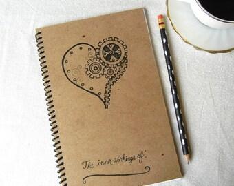 Mechanical Heart Inner-workings Notebook Journal