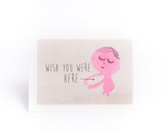 Wish you were here hug Card.
