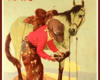 Stetson Hats Advertising Poster 1920s -  Print