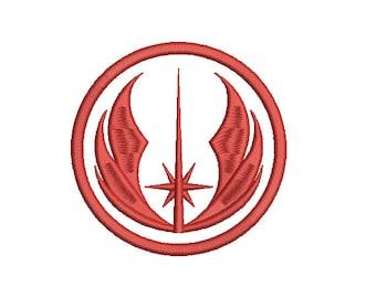 Machine Embroidery Design Instant Download - Star Wars Jedi Order 1