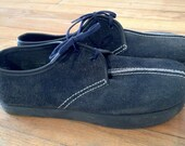 Lot of 3 Pair Earth Shoes Blue Split Suede Oxford 9 Narrow Men's Navy Anne Kalso Vintage