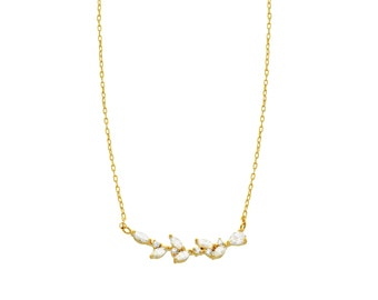 14k Gold Filled Twig Necklace, Delicate branch necklace, Modern Branch pendant, Minimal Simple Necklace