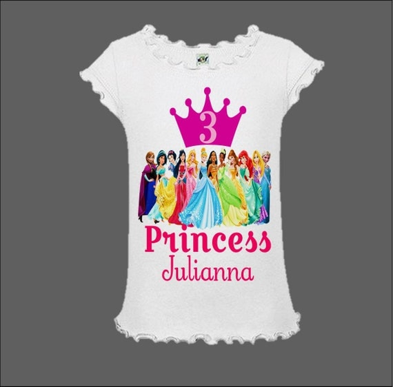 Disney Princess Birthday Shirt Disney Princess Shirt With