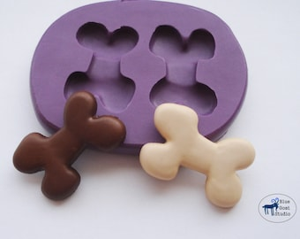 Bone Mold/Mould - Dog Bone Mold - Silicone Molds - Polymer Clay Resin Fondant