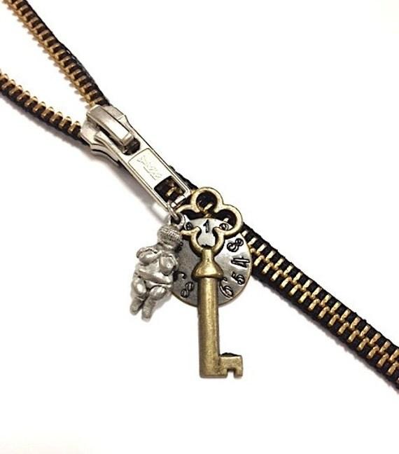 Venus of Willendorf Zipper Necklace