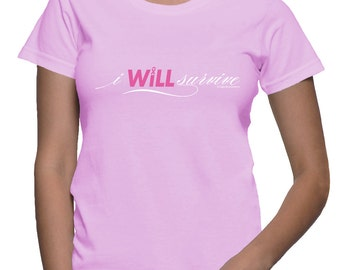 XXL - I WILL Survive - Breast Cancer T-shirt