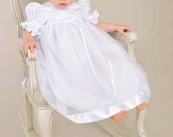 Discounted Baby Girl Christening Gown - Clarice