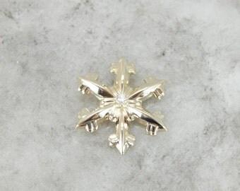 Vintage Gorham Snowflake Pendant With Diamond Center  Q78AK5-N