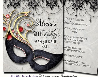 masquerade invites
