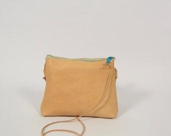 Stine - bright brown leather purse