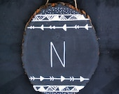Tribal Wood Monogram Sign