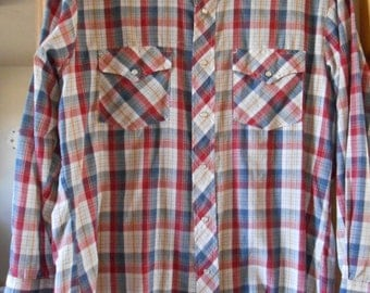 Country western shirt in red,white and blue