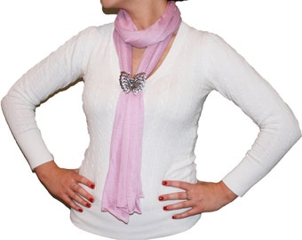 Magnetic Crystal Butterfly Pendant Scarf