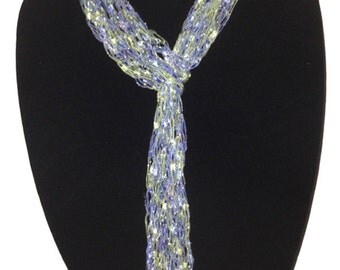 Peace of the Lily Hand Woven Skinny Scarf #1032