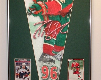 Minnesota Wild Pierre-Marc Bouchard Pennant & Cards...Custom Framed!