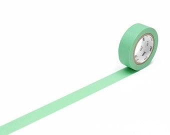 Mint Green MT Washi Tape - Wakamidori Solid Colour MT Masking Tape