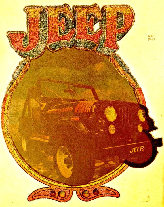 Vintage 70s jeep 4x4 t shirt iron on transfer by irononstation for 70 s t shirt transfers