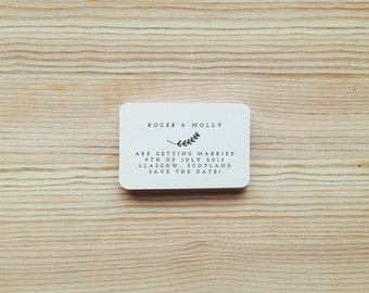 Personalised Custom Save the Date Rubber Stamp with Wood Handle DIY
