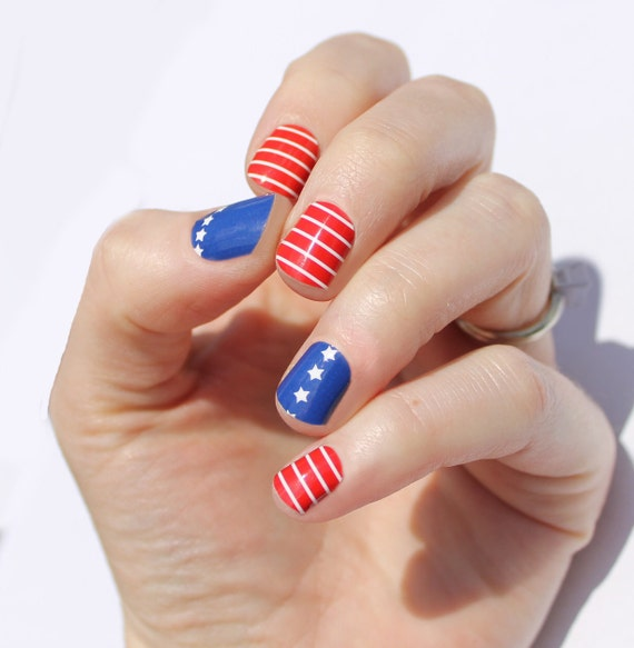 Stars & Stripes Nail Wraps from SoGloss
