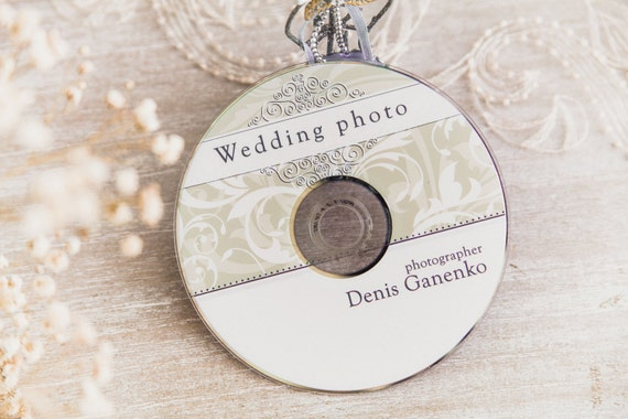 Wedding Cd/Dvd Label Template Vintage Patterns Wedding