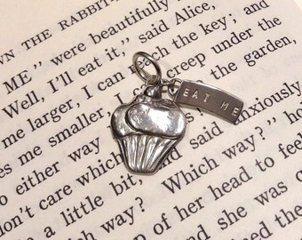 Alice inspired 'Eat Me' necklace