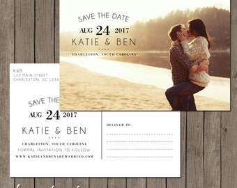Printable Save the Date Postcard - the Annabelle Collection