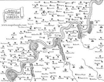 Fantasy maps of Canadian cities: Edmonton, Manitoulin