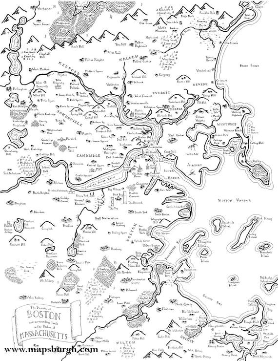 Fantasy map of boston like this item publicscrutiny Images