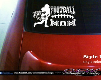 One Of A Kind Vinyl Decals Tshirts And By CEWgraphicsNdesigns - Football custom vinyl decals for cars
