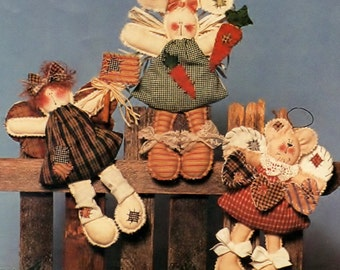 The Briar Rose Collection No. 119 Gingersnaps Pattern - Angel Bear Bunny