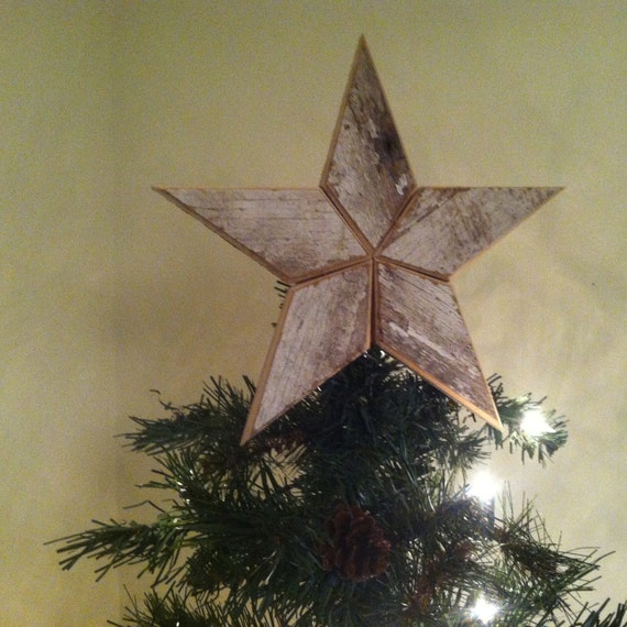 White Star Christmas Tree Topper Decoration- 10 inch star ...