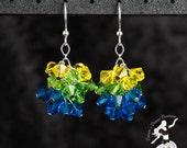 Ocean Beach Crystal Cluster Earrings