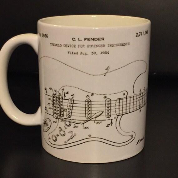 Fender strat blueprint coffee mug like this item malvernweather Gallery