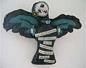 Oscar Wilde Quote Cloth Angelic Messenger Mixed Media Figurine One-Of-A-Kind Goth Romantic Art Doll