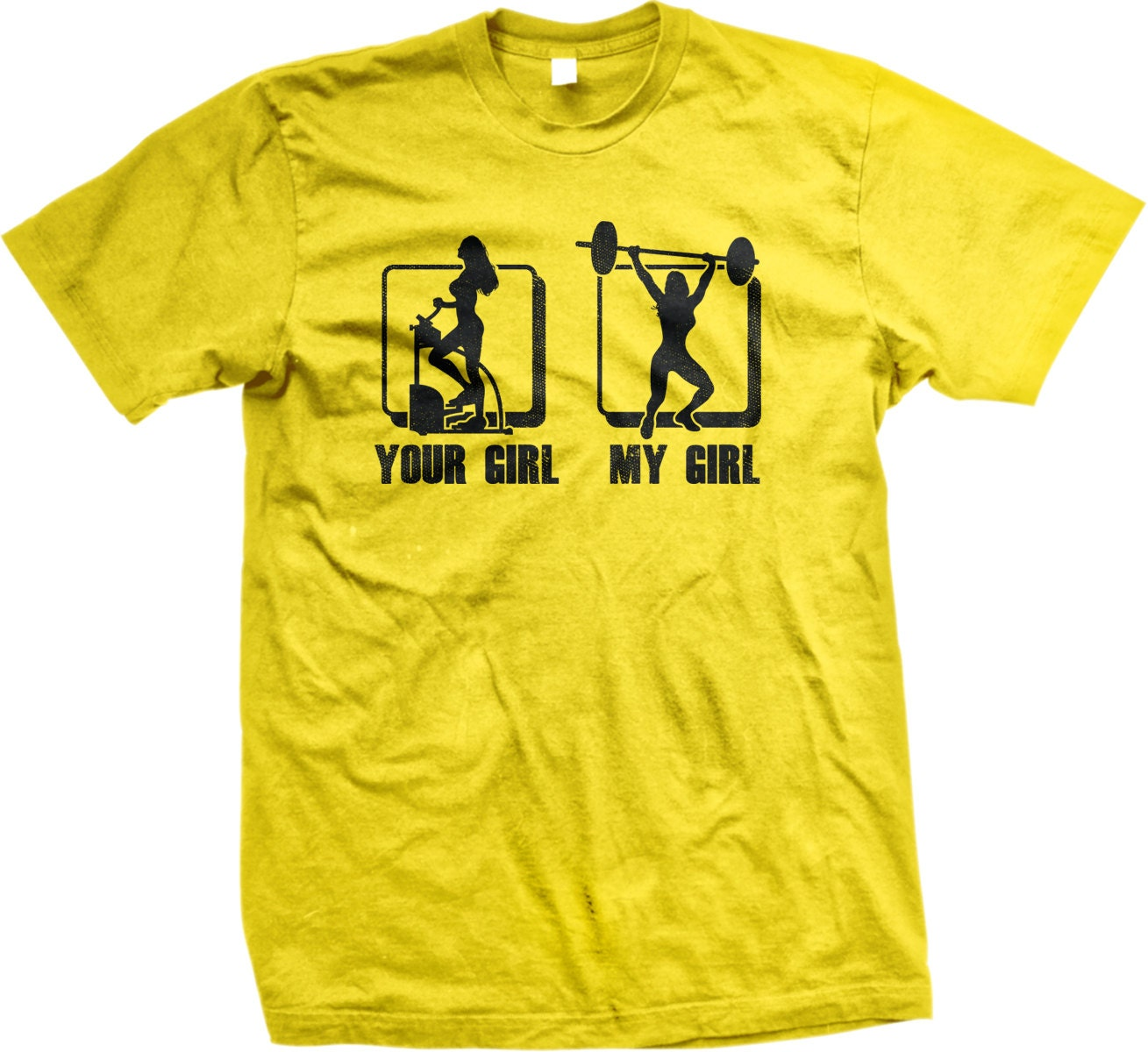 Your girl my girl men 39 s gym t shirt personal trainer for Custom personal trainer shirts