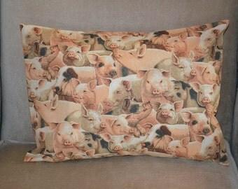 Travel Pillow Case / Child Pillow Case FFA Pig / HOGS / SWINE